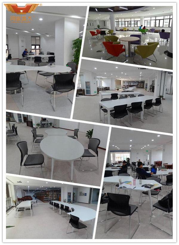 华中科技大学图书馆学校家具胶板桌椅款式