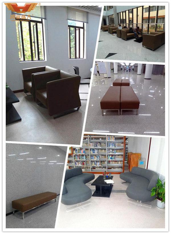 华中科技大学图书馆学校家具休息区域软体桌椅款式