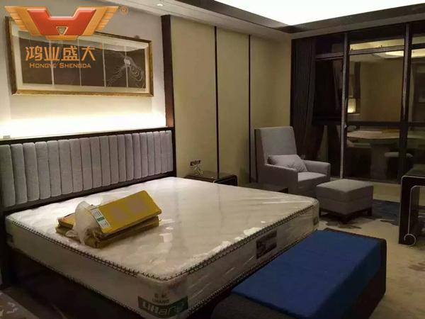 贵州贵阳国际人才公寓酒店豪华大床房现场安装情况