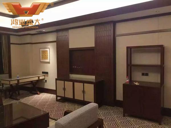 贵州贵阳国际人才公寓酒店标准双人房现场安装情况