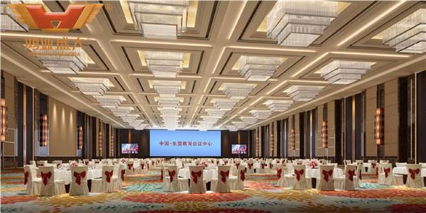 贵州贵阳国际人才公寓酒店宴会厅3D室内家具摆放图