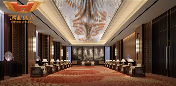 贵州贵阳国际人才公寓酒店VIP客户接待厅3D室内家具摆放图