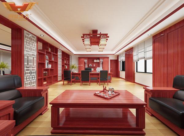 鴻業盛大為齊齊哈爾辦公家具采購商設計的效果圖