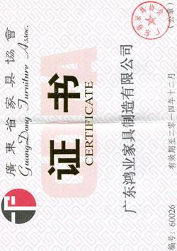 广东省亚博体育苹果官方下载协会证书