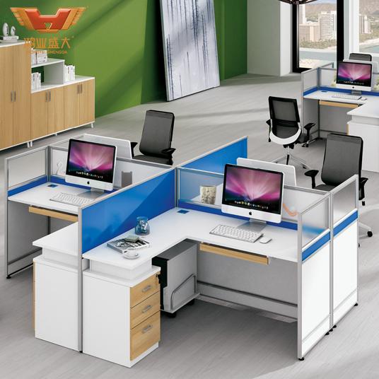 H15-0816亚博足彩app苹果版室屏风工位隔断桌4人位员工桌椅组合简约现代