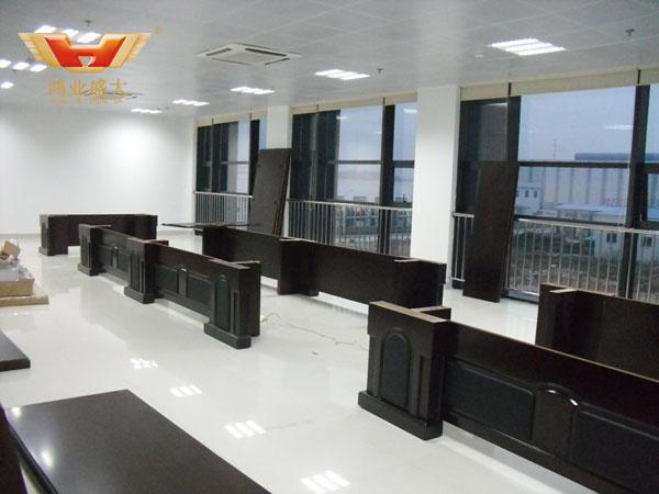 湘投金天鈦金屬公司會議室安裝現場圖