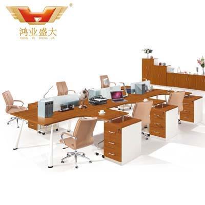 连体6人位时尚职员桌 组合式亚博足彩app苹果版桌HY-Z03