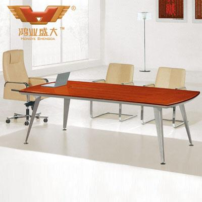 6人时尚会议桌 2.4米板式会议桌HY-A4124