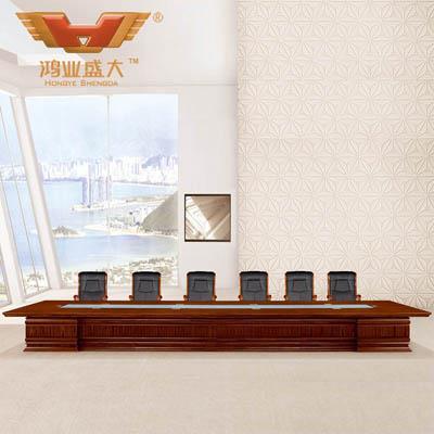 8米大型会议桌 20人亚博足彩app苹果版会议桌HY-A9080