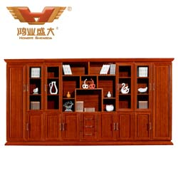 九门泰柚木书柜  HY-C2019