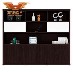 不锈钢底文件柜 黑橡木文件柜H80-0666