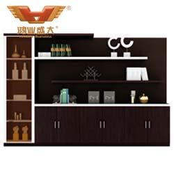 7门文件柜 茶色玻璃文件柜H80-0667