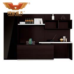 黑色玻璃文件柜 黑橡木文件柜H80-0668