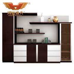 六门文件柜 茶色玻璃文件柜H80-0664