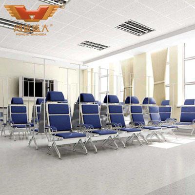 医院蓝色系输液椅