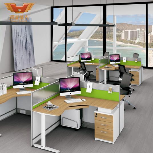 亚博足彩app苹果版屏风 员工亚博足彩app苹果版桌 组合屏风卡位 简约4人工作位H15-0818