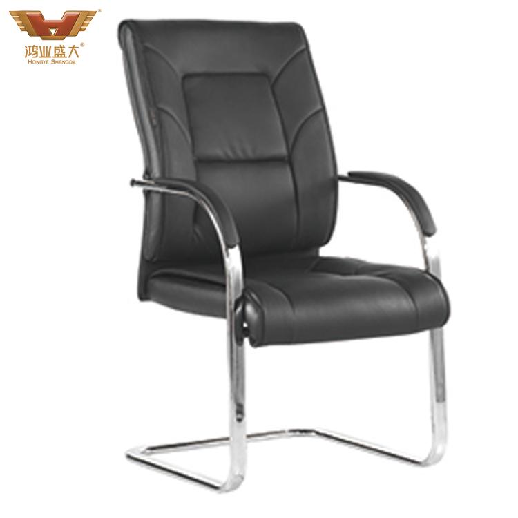 牛皮老板椅弓形椅会议椅HY-392H